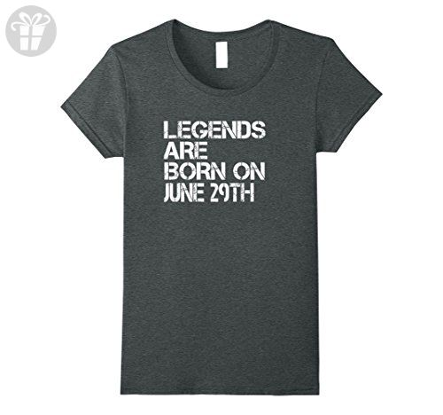 Womens Legends Are Born On June 29th Funny Birthday T-Shirt Large Dark Heather - Birthday shirts (*Amazon Partner-Link)