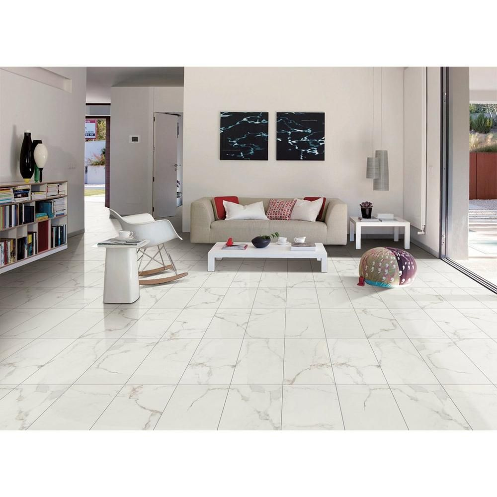 Levante White Ceramic Tile White Ceramic Tiles Tile Floor Living Room White Tile Floor