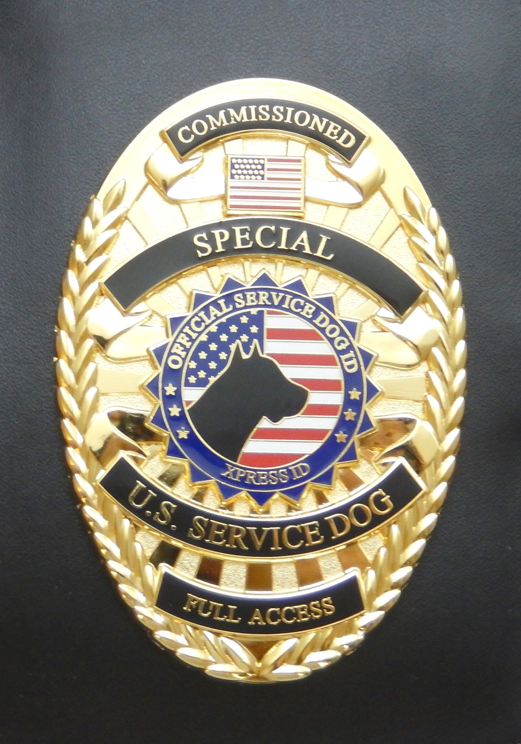 Service Dog Badge Carrying Case Service Dogs Autism Service