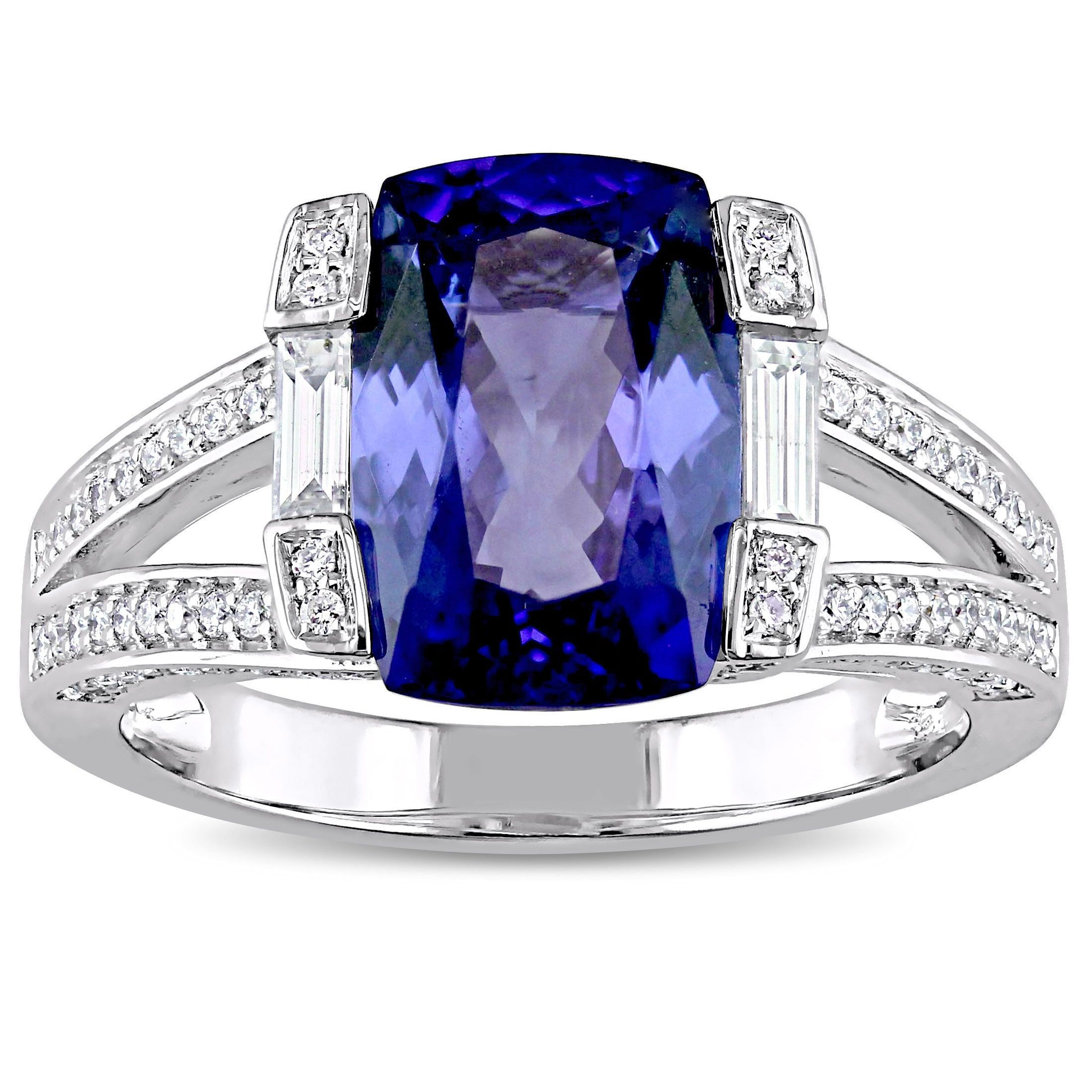 bride oval pin tanzanite princess white ring gold with wedding for diamond cut