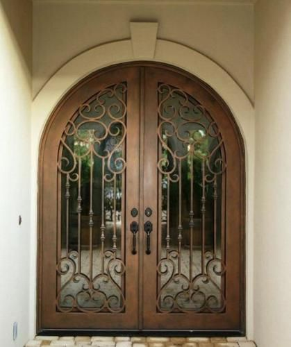 Romantica 8 Wrought Iron Doors Windows Gates Railings From Cantera Doors Wrought Iron Doors Iron Doors Wrought Iron Doors Front Entrances