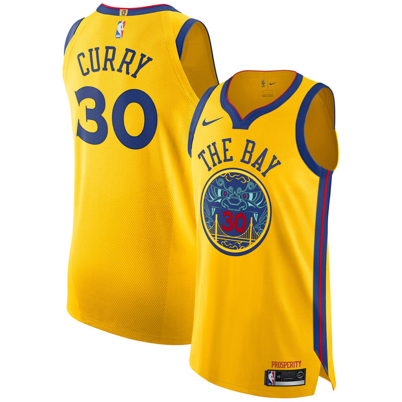 Stephen Curry Golden State Warriors Nike City Edition Authentic AeroSwift  Jersey – Gold 04f50ebffd4c4