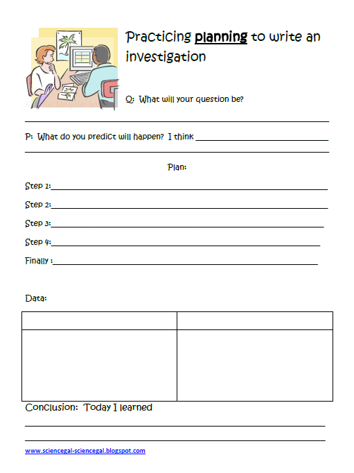 Writing an investigation plan science