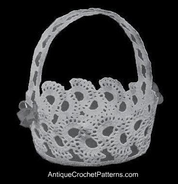 Large Crochet Basket with Handle