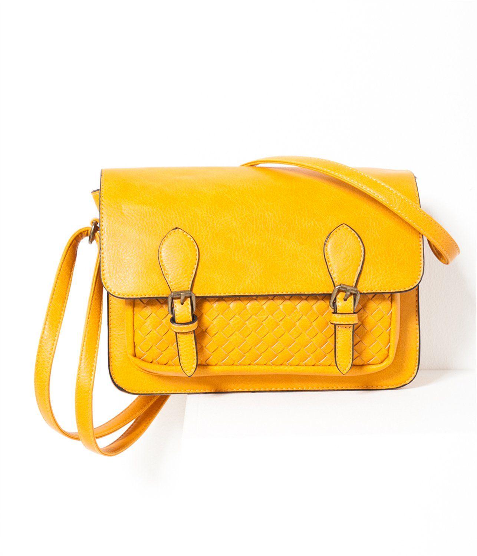 ff6a41ca88 Sac bandoulière esprit cartable jaune Camaïeu 2016 | Shoes, bags ...
