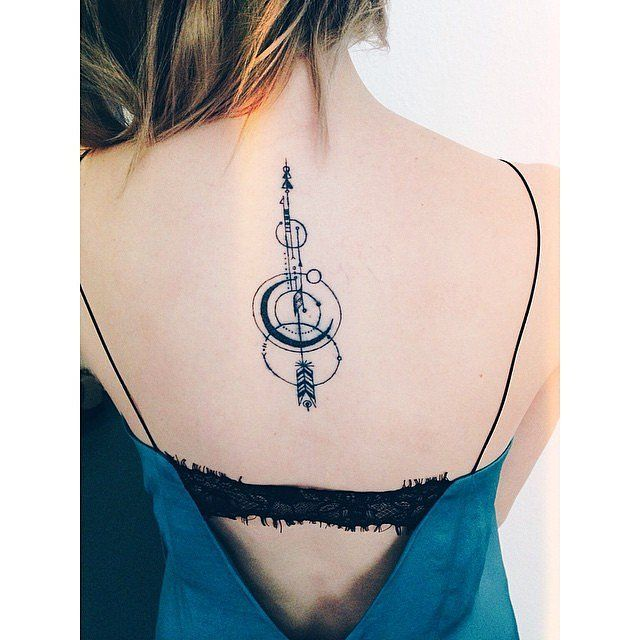 75ba1d9120ec1 35 Real-Girl Arrow Tattoo Ideas to Aim For: When we spotted Sarah Hyland  with her newly inked arrow tattoo, we were immediately obsessed.