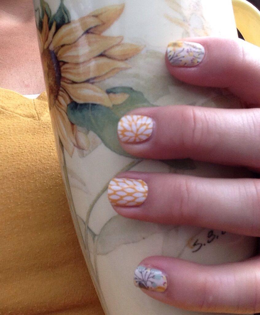 """Loving my yellow """"Jamicure""""!! www.jamsforme.jamberrynails.net"""