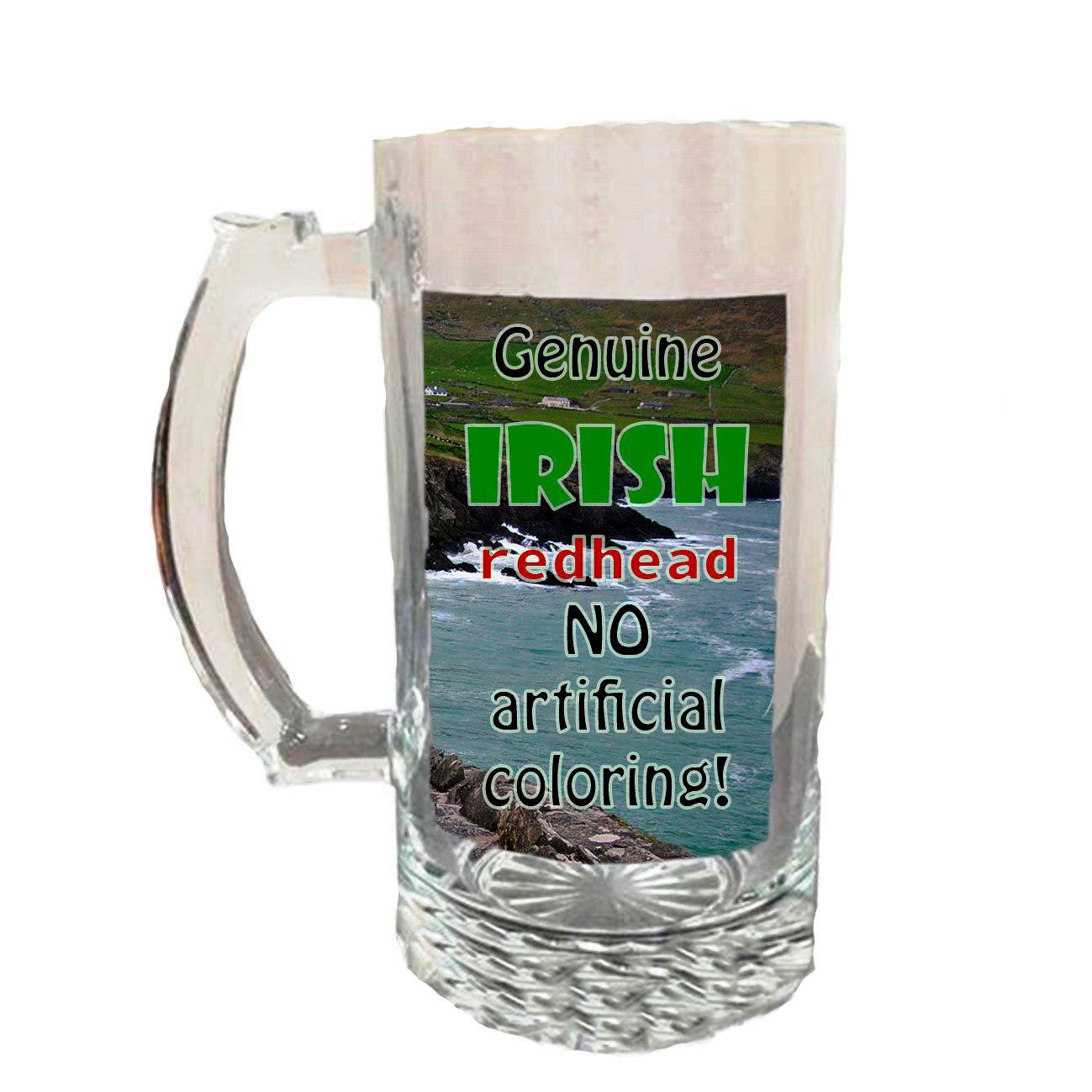 Glass Beer Stein Irish | Etsy | Beer glass, Glass beer ...  Irish Beer Mug