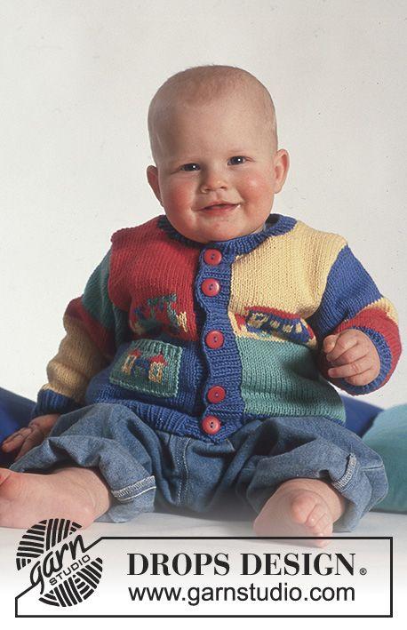 Choo Choo Cardi Drops Baby 3 10 Free Knitting Patterns By Drops Design In 2020 Baby Knitting Patterns Free Newborn Baby Knitting Baby Knitting Patterns Free