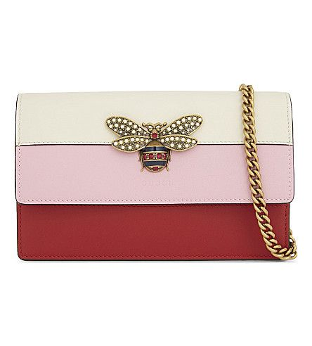 ce176345769c GUCCI Bee Emblem Clutch. #gucci #bags #shoulder bags #clutch #leather  #crystal #hand bags #