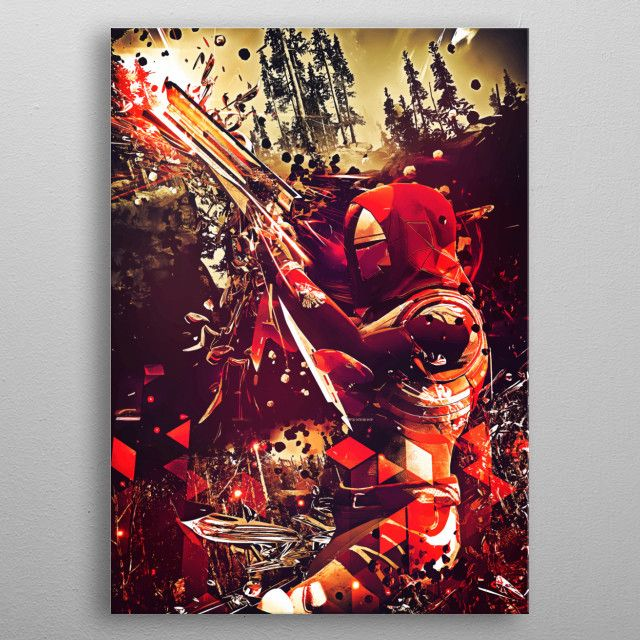 Destiny 2 Hunter metal print | Displate thumbnail