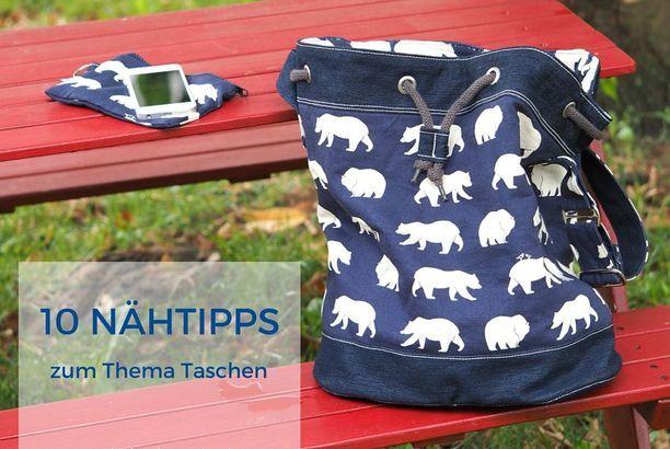 10 Nähtipps zum Thema Taschen (Keko-Kreativ) | Nähtipps, Nähen und ...