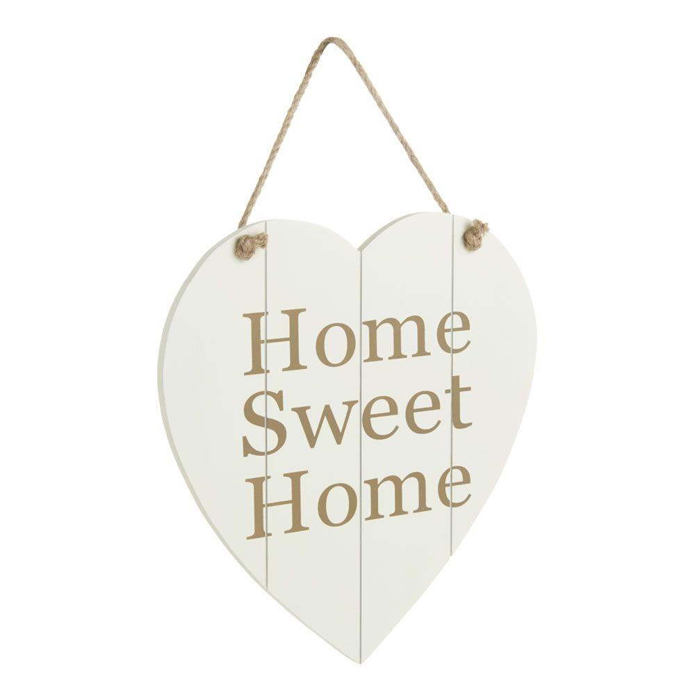 Wilko Home Sweet Home Wooden Heart | Wilko | Unearthed | Pinterest