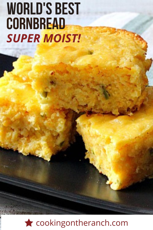 Super Moist Jalapeno Buttermilk Cornbread Recipe Recipe In 2020 Recipes Mexican Cornbread Recipe Creamy Corn Bread