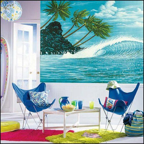 beach themed bedrooms - from sea shore, waves and sharks, surf