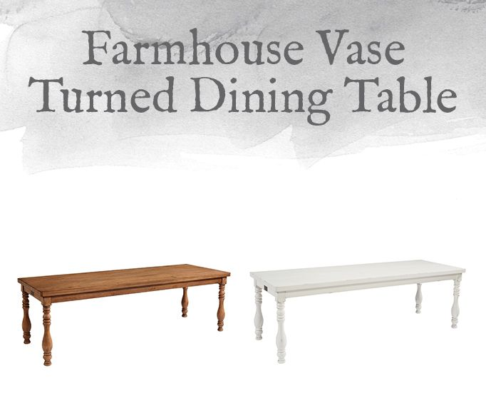 Farmhouse Vase Turned Dining Table Vases Ideas Dinning Bench