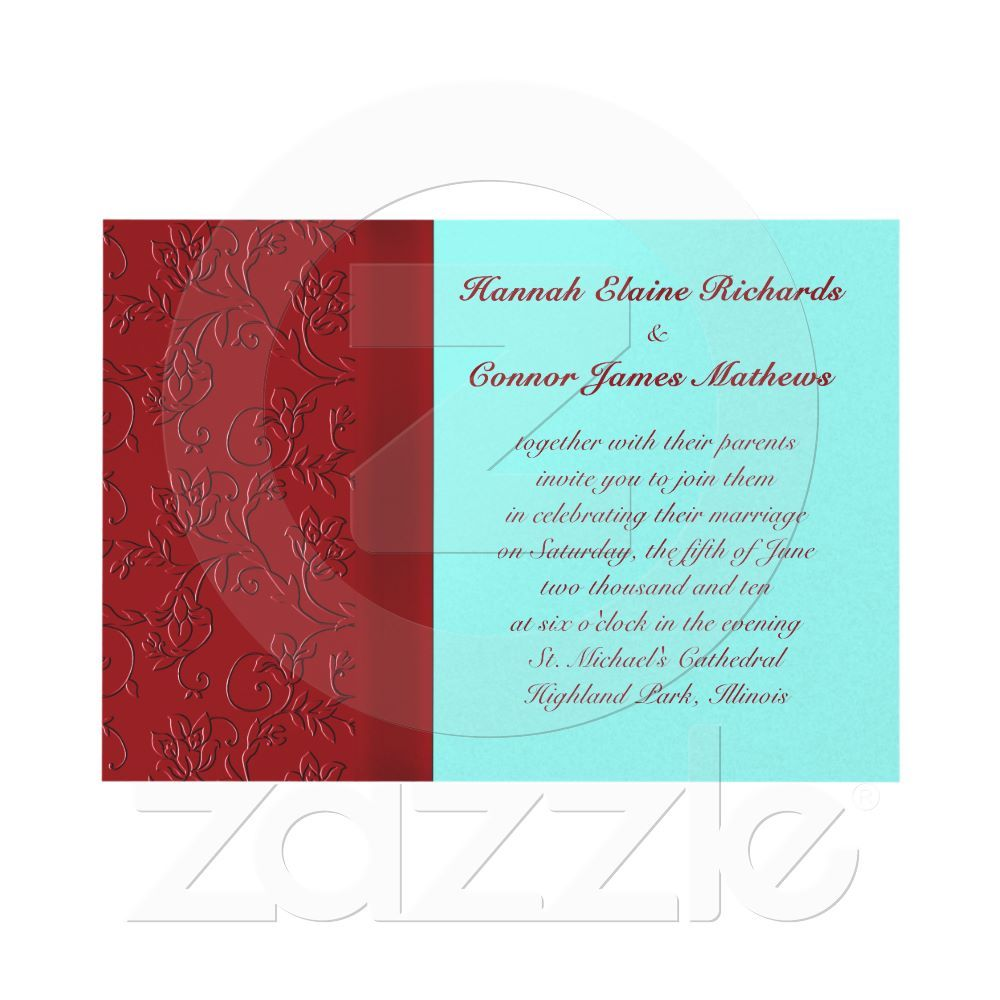 Contemporary Wedding Invitations Teal Ideas - Invitations and ...