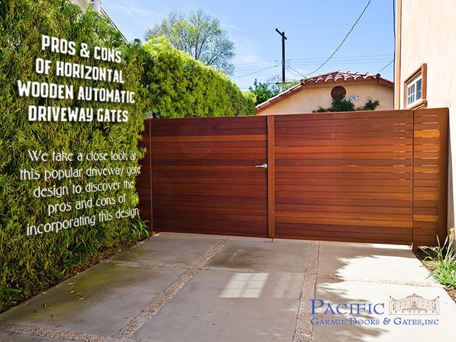 Pros And Cons Of Horizontal Wooden Driveway Gates