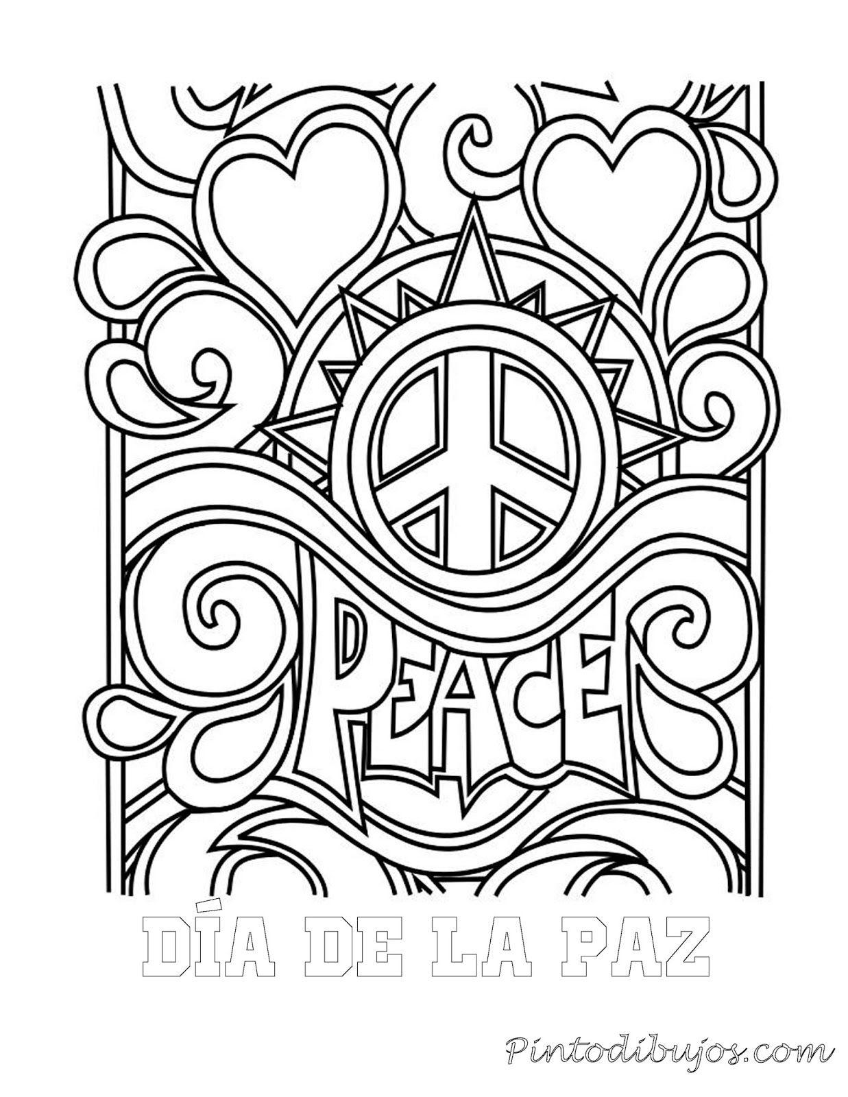 Dia de la paz para colorear | Dia de la paz para colorear | ingles ...