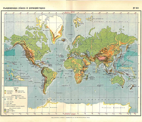 Maps 1910s world map maps history family tree pinterest world map by carambas vintage physical world map it is a colorful lithograph that was published in paris france circa in great condition publicscrutiny Gallery