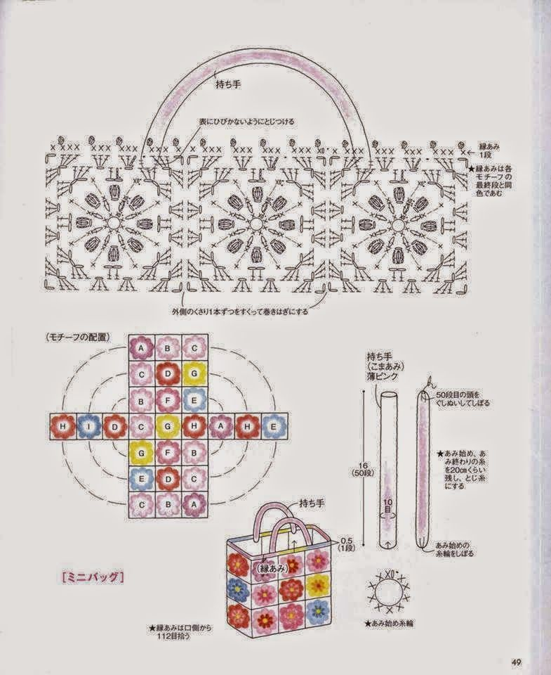 2 patrones de bolso tejido al crochet | Todo crochet | Bolsas ...
