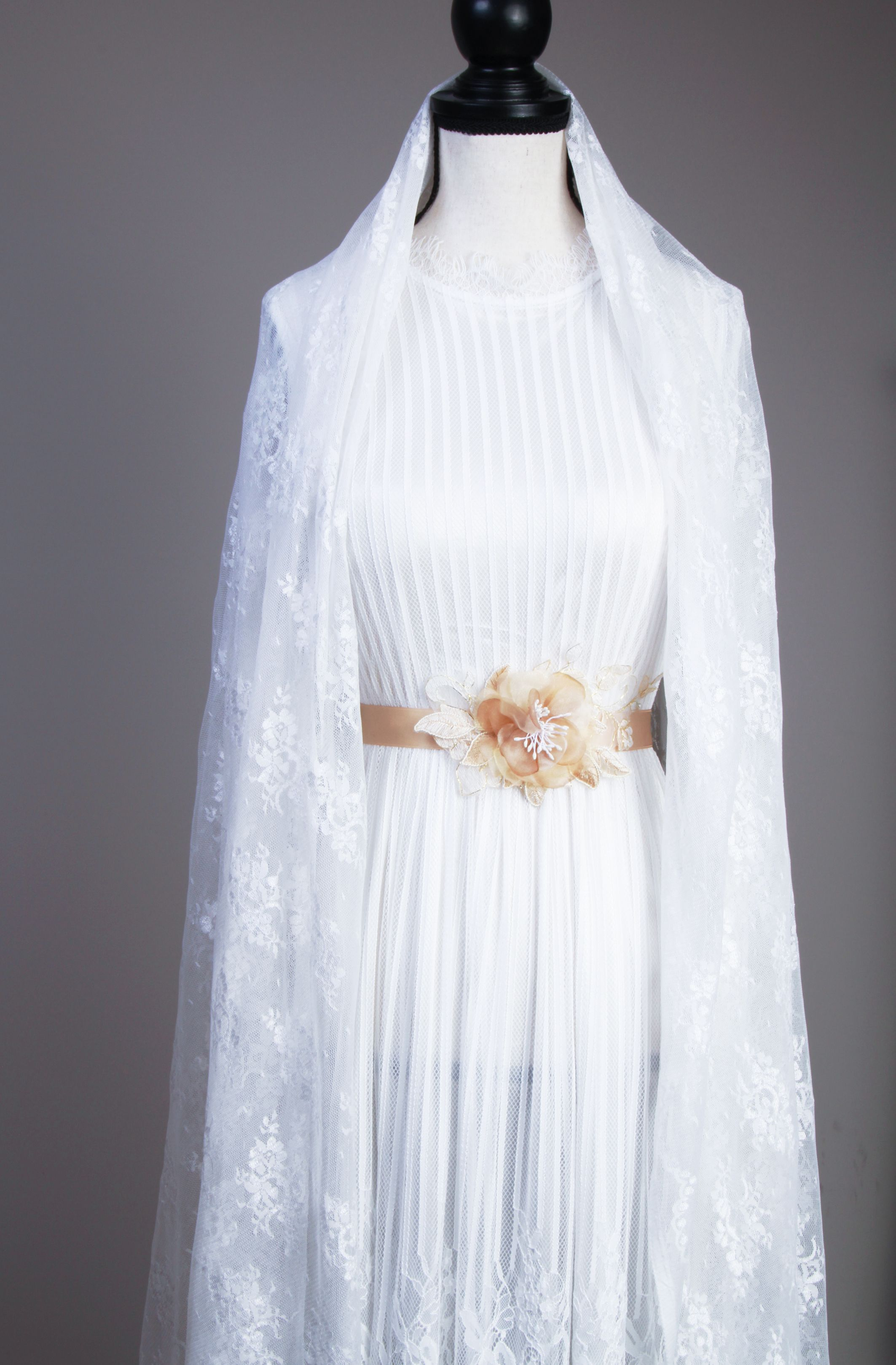 Bridal Sash Belt Wedding Dress Sashes Belts Champagne