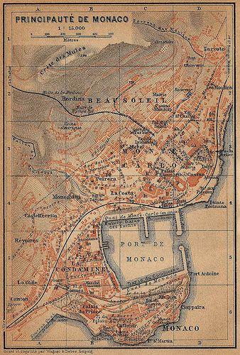 ephemera - Monaco 1914 map Also find us at http://instagram.com/mightytravels