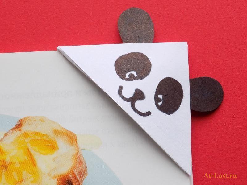 Как сделать из бумаги закладку - уголок «Панда» | Картинки ...