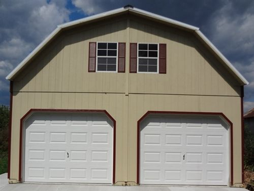 Alan S Factory Outlet Wood Two Story Garages Are For Sale To Buy