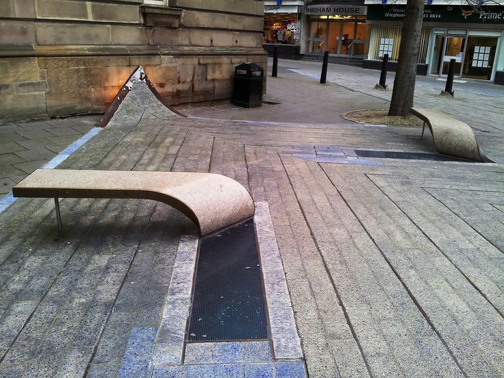 Blue Carpet, Newcastle upon Tyne, UK Urban furniture