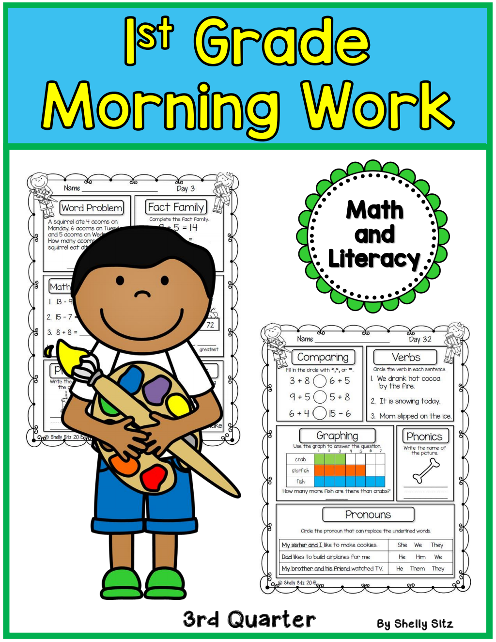 First Grade Morning Work 3rd Quarter Preview