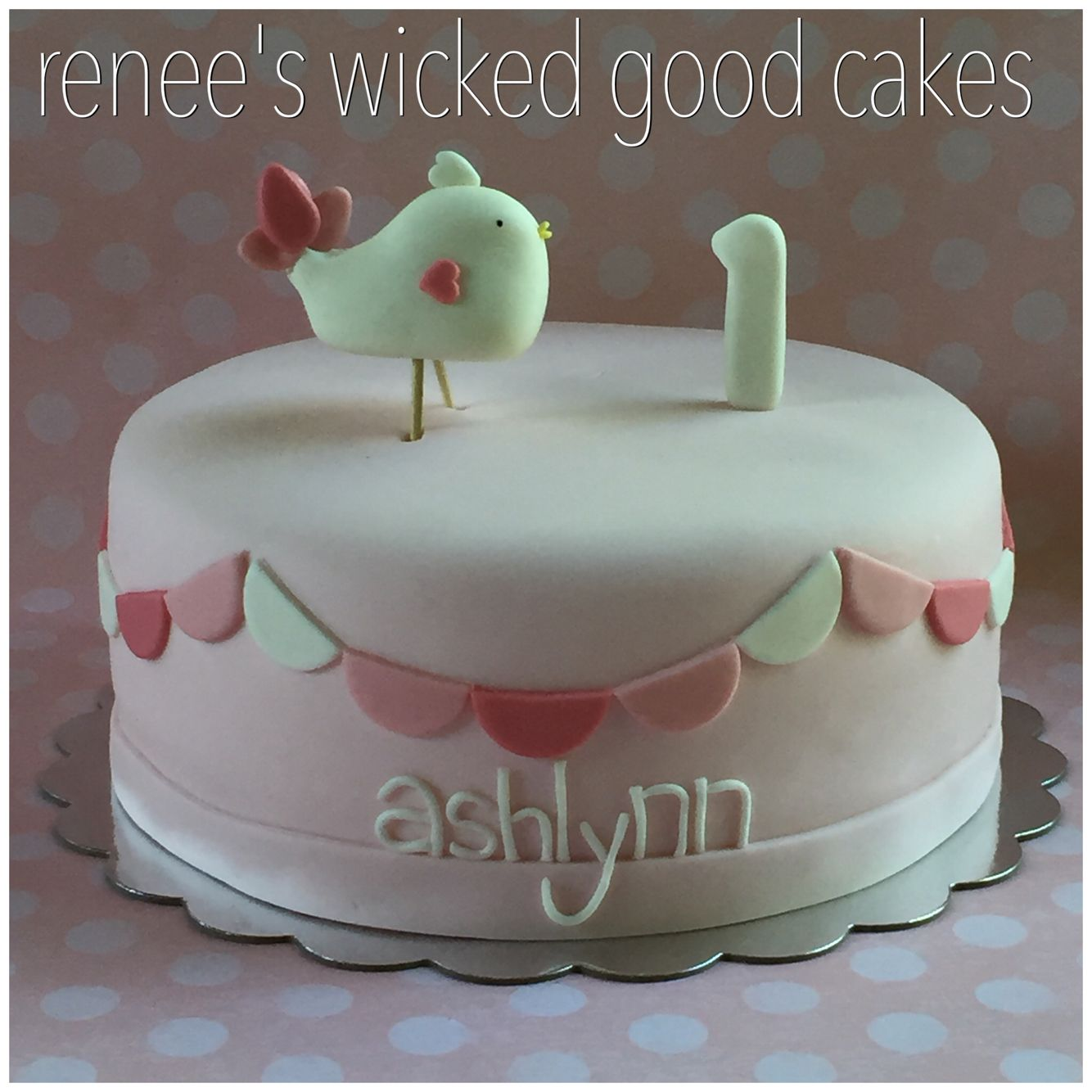 Little birdie first birthday cake Renees WICKED GOOD Cakes like