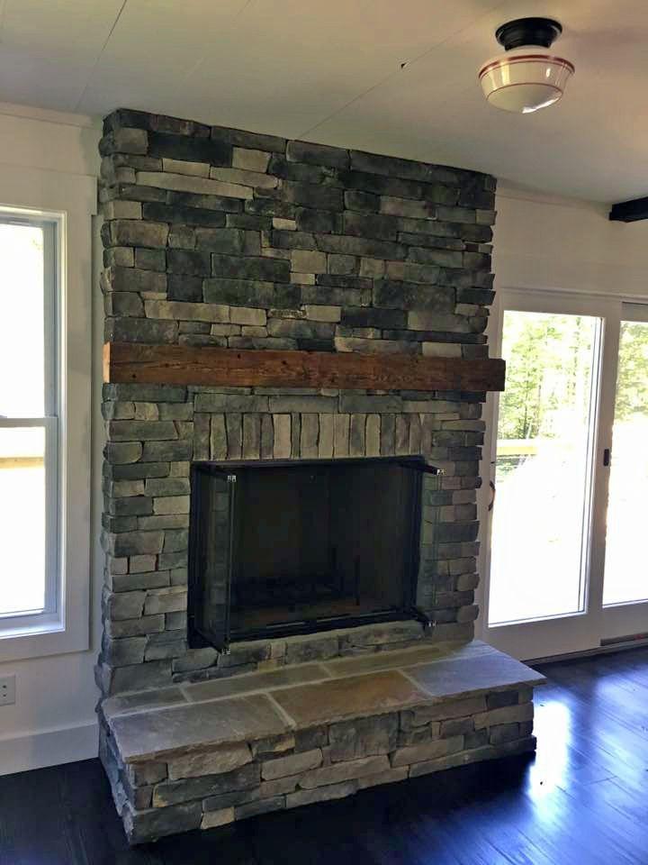 beautiful stone fireplaces. Farmhouse 42 Beautiful Stone  Fireplace With Signature Reclaimed Wood Mantel