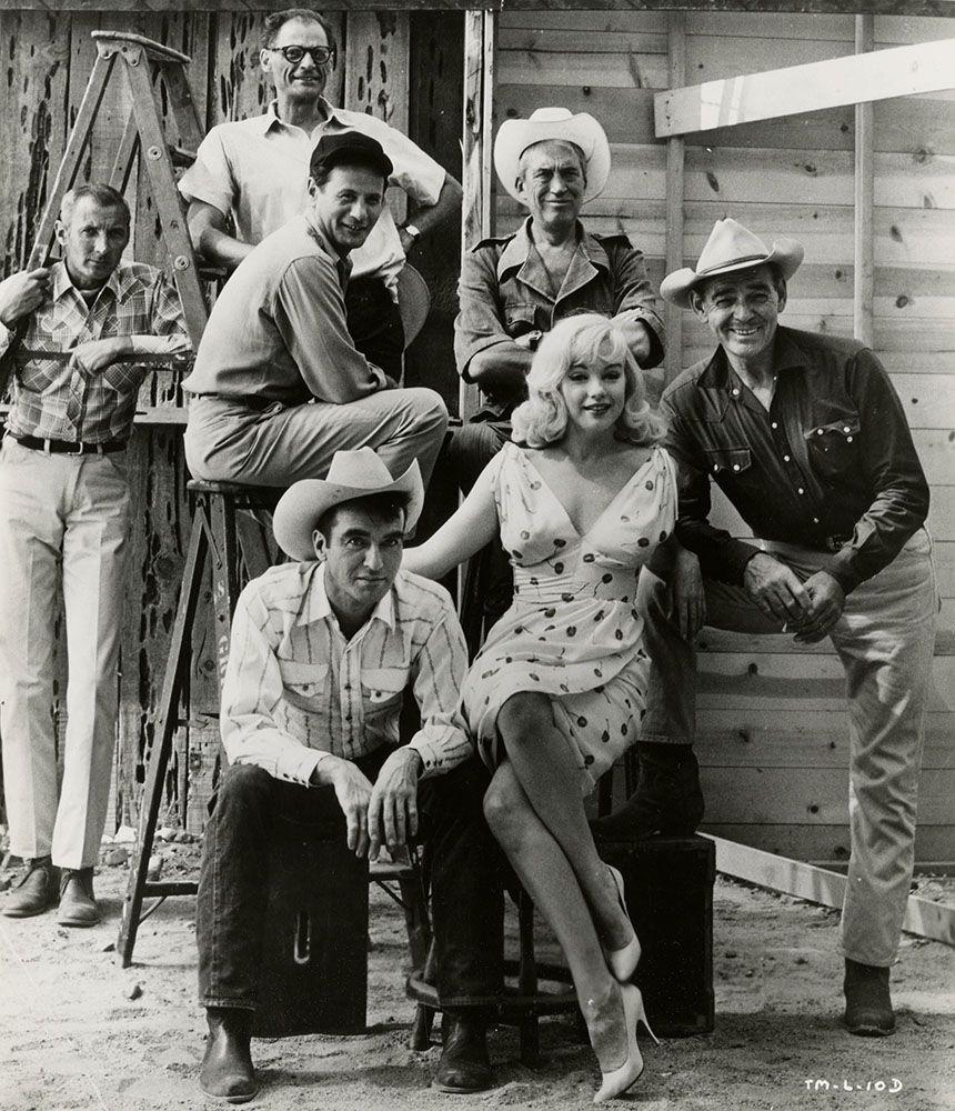 Marilyn Monroe, Clark Cable, Montgomery Clift, Eli Wallach