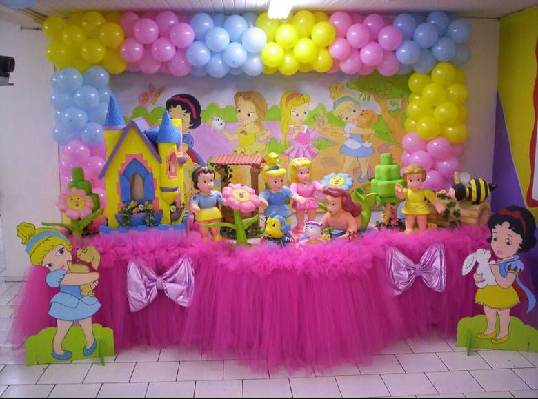 Decoracion para fiestas infantiles de princesas for Decoracion cumpleanos princesas