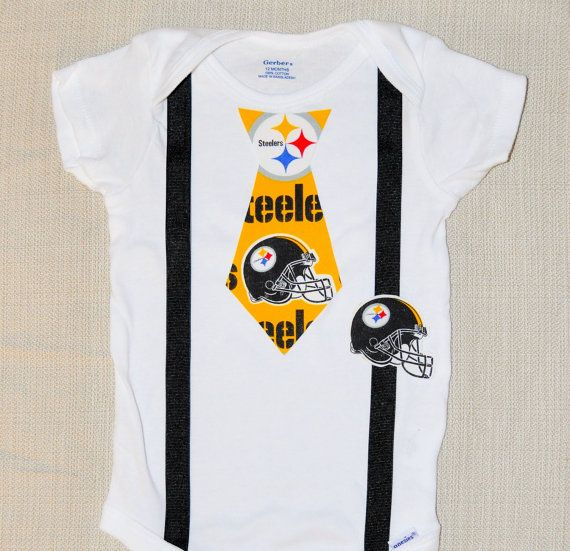 Steelers Baby Clothes Rylo Pittsburg Steelers Tie And Suspenders With A Steelers Helmet