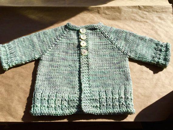 19e7d12654f8 Hand Knit Baby Boy Cardigan 100% merino wool