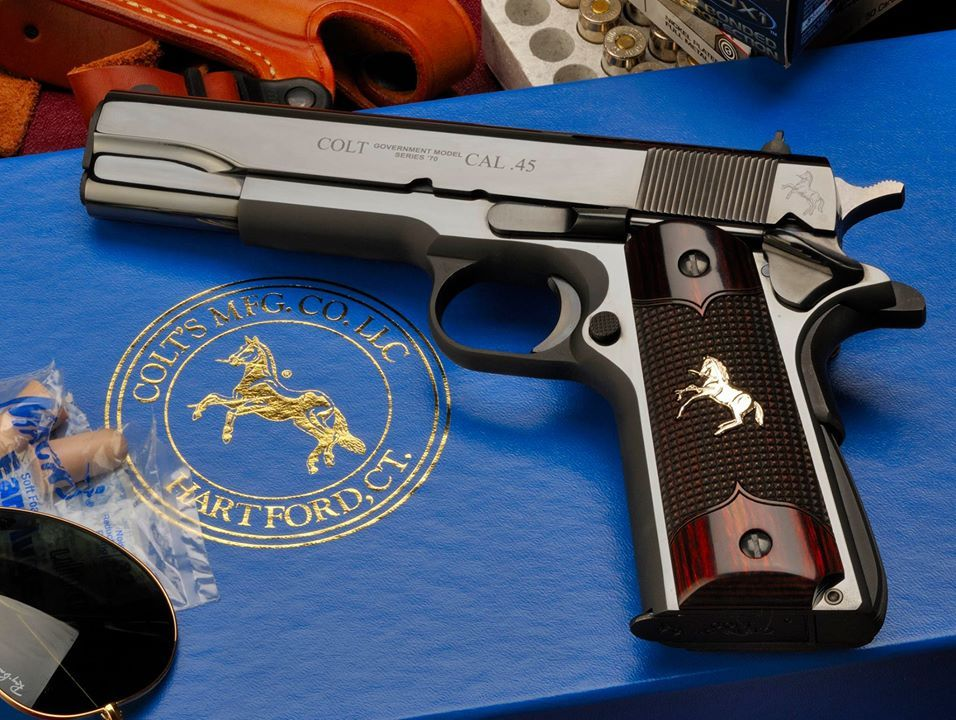 Colt 1911 in Royal Blue finish   Gun pictures   Hand guns, Guns