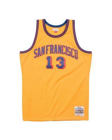 d31e58c21d88 Wilt Chamberlain 1962-63 San Francisco Warriors Road Swingman Jersey ...