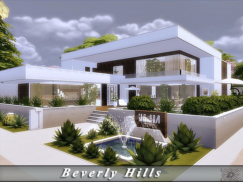 Luxurious, contemporary villa. Found in TSR Category 'Sims