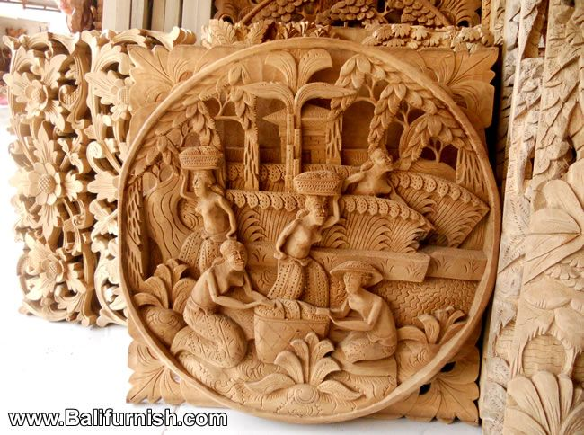 Story boards hand carved wood wall panel decoration
