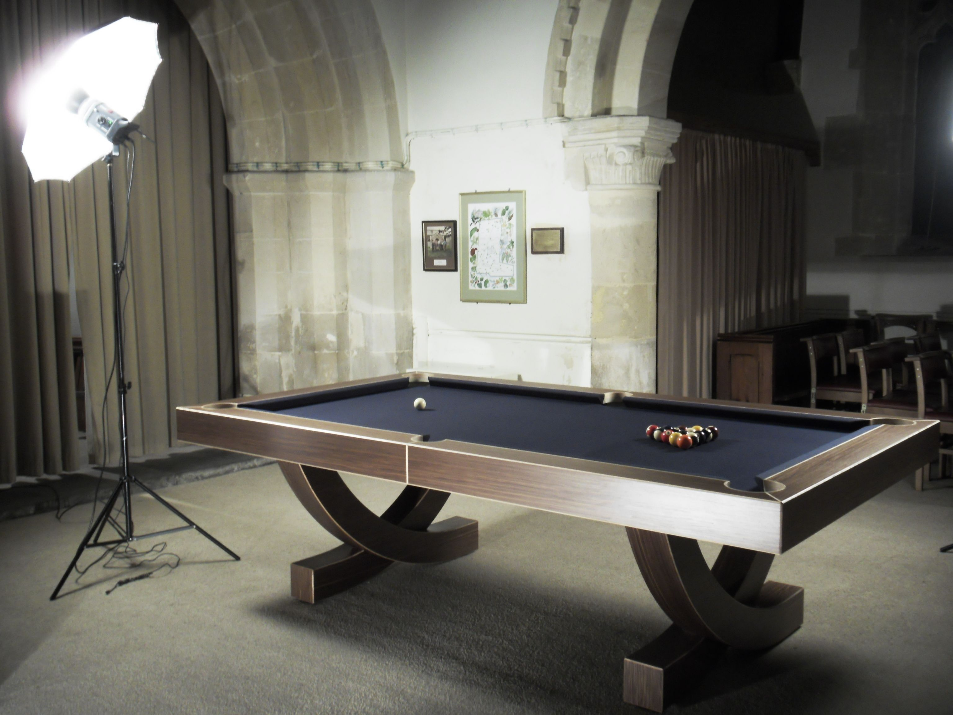 The Arc Pool Table On Its Photo Shoot Wwwdesignerbilliardsco