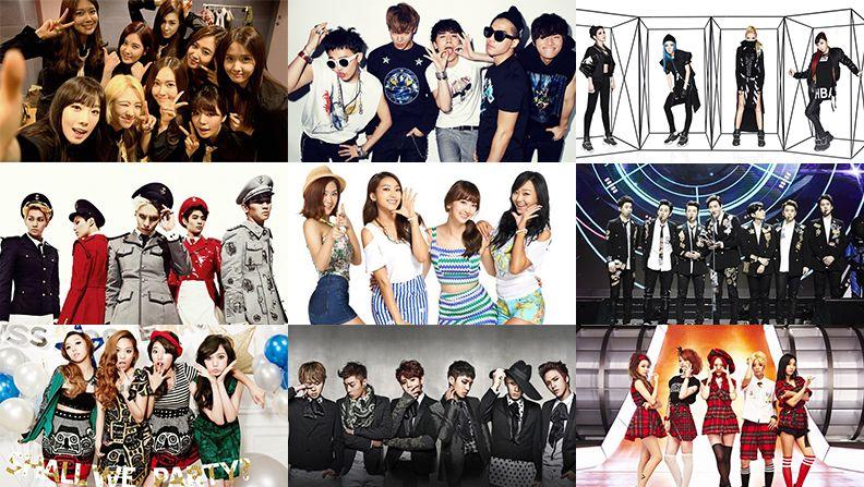 K Pop Idol Group Infographic 2014 Kpop Idol Idol Pop