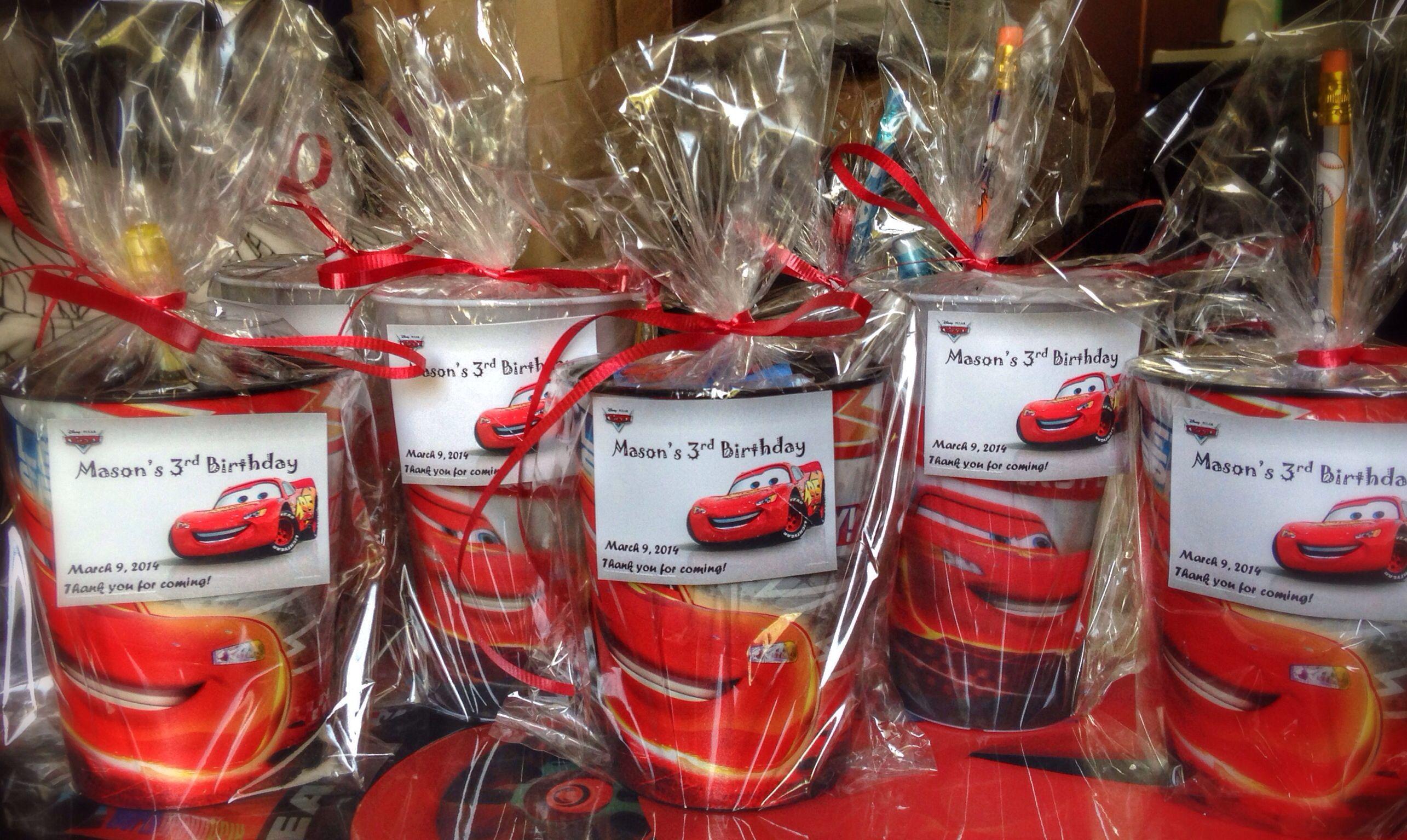 Disney pixars cars party favor cup ideas