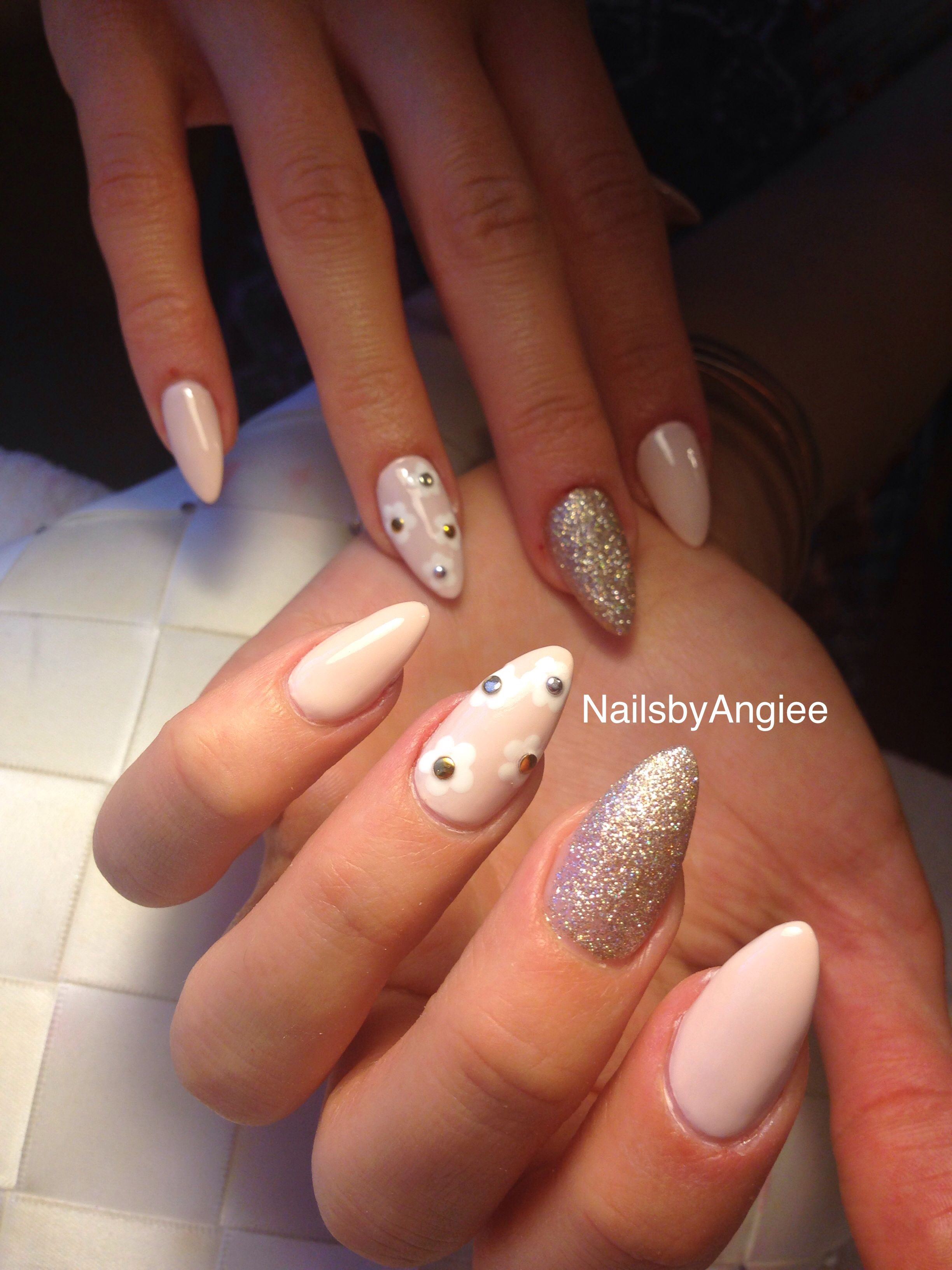 Full set acrylic with simple nail design | Nails | Pinterest ...