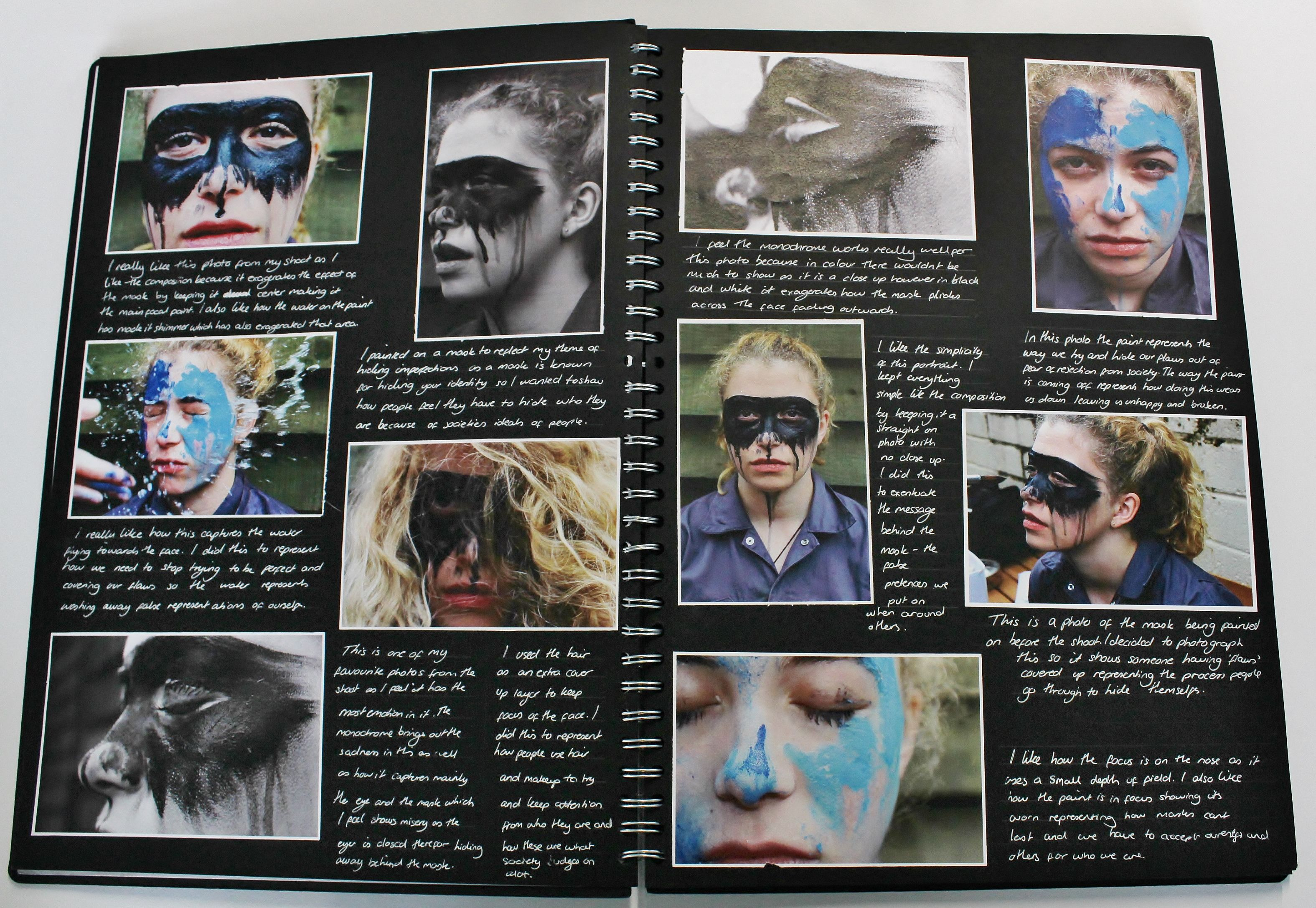 A2 Photography A3 Black Sketchbook Photoshoot Cswk Theme