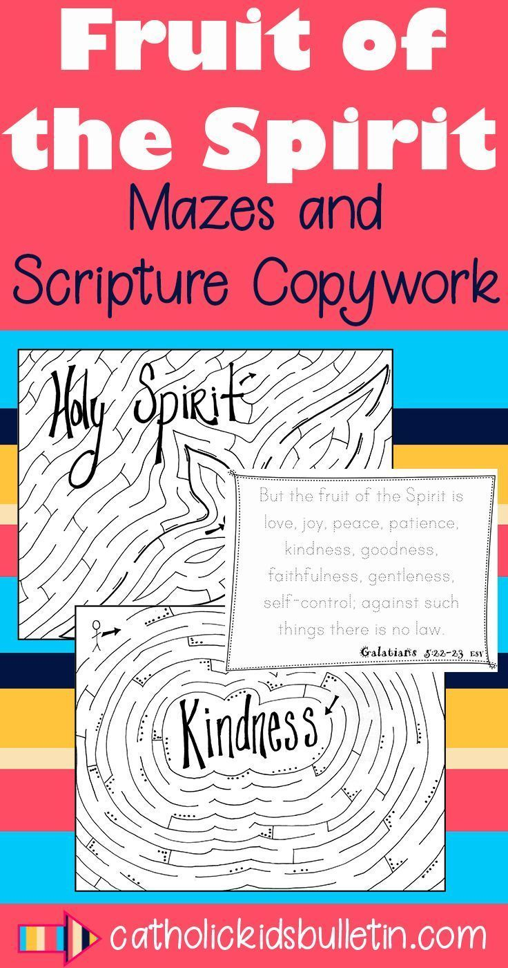 Fruits of the Holy Spirit Copy Work Handwriting Mazes and Dottodots This packet contains 28 pages of handwriting pages mazes and dottodot activities to help your students...
