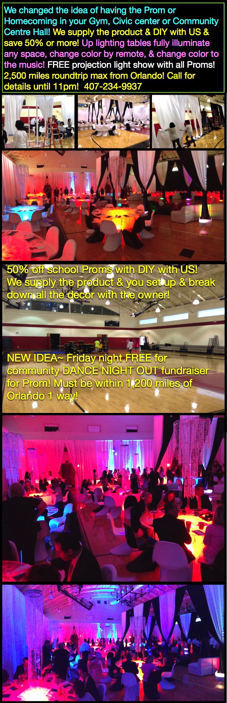 Prom 50 Off Light Up Tables Florida Traveling Decorator Here Tables Change Color By Remote To The Music 100 Fre Orlando Travel One Step Beyond Glow Table