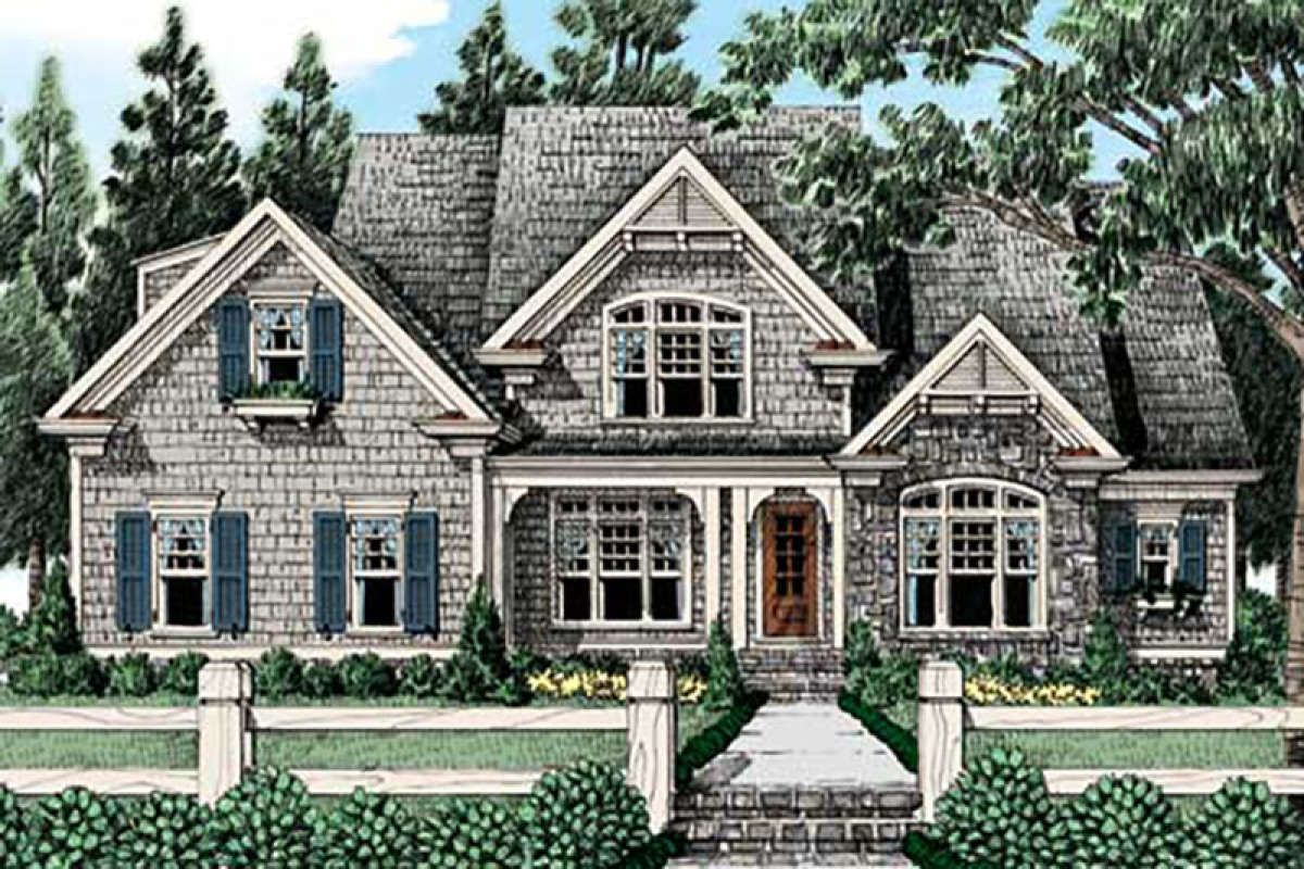 House Plan 8594 00049 Cottage Plan 3 225 Square Feet 4 Bedrooms 4 5 Bathrooms In 2021 Cottage House Plans Cottage Plan House Plans