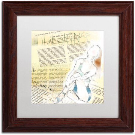 Trademark Fine Art Figure Canvas Art by Lisa Powell Braun, White Matte, Wood Frame, Multicolor